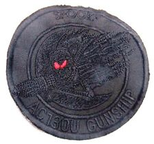 """""""SPOOKY"""" AC-130U GUNSHIP FLIGHT SUIT PATCH - not faded - just hard to photograph"""