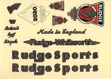 RUDGE VINTAGE BIKE BICYCLE STICKER DECAL 1 SHEET