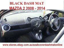 DASH MAT, DASHMAT MAZDA 2 2008 - 2014, BLACK, AIR BAG