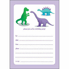 10 Childrens Birthday Party Invitations - Fill-in - BPIF-85 Dinosaur! - So cute!