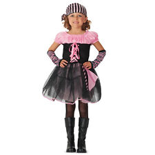 Deluxe Pink Skull Pirate Child Halloween Costume Small 4-6 Girls Dress Up