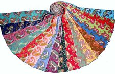"17 2.5"" Quilting Fabric Jelly Roll Strips Dancing PaisleyWOF NEW ITEM-"