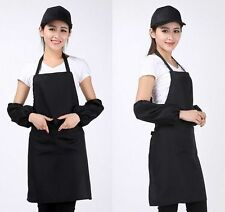 New Women Solid Cooking Kitchen Restaurant Bib Apron Dress with Pocket Gift TB