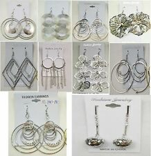 fashion jewelry lot 10 pairs Dangle Silver Plated  Earrings wholesale lot W#-17