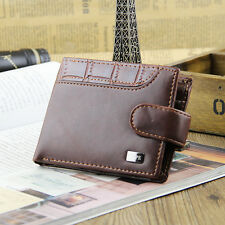 Mens Brown Real Leather Wallet From Skype New  With Coin Pouch