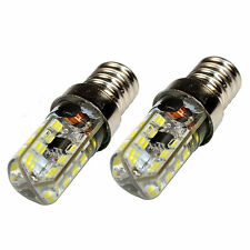 2-Pack HQRP E14 Base 64 SMD3014 LED Bulbs AC 110-220V Cool White Not Dimmable