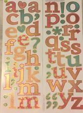 PATTERNED LETTERS w/gold wall stickers 62 decal Alphabet ABC decor punctuation