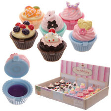 Fun Cupcake Fairy Cake Lip Gloss - SET OF 6 - Ideal Party Bag or Stocking Filler