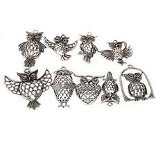 9pcs Owl Animal Antique Silver Alloy Charms Findings for Jewlery Making DIY
