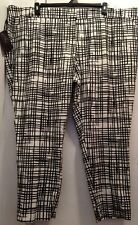 Women's Ava & Viv Mid-rise Fitted Checkerd Print Ankle Length Pants SZ 24W