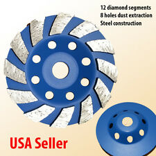 "4"" Diamond Grinding CUP Wheel Disc Grinder Concrete Granite Stone 5/8 100mm"