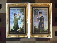 Vintage Disney ( Haunted Mansion Dueling Ghosts ) Collector's Poster Prints (T2)