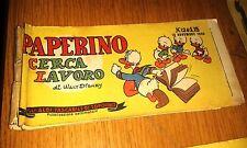 GLI ALBI TASCABILI DI TOPOLINO # 124-PAPERINO CERCA LAVORO-15 / 11 / 1950-DISNEY