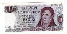 ARGENTINA NOTE 1973 10 PESOS Decreto-Ley 18.188/69 Series C - P#295 - B#2350