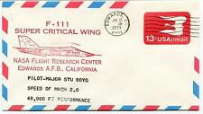 1974  F-111 Super Critical Wing - Flight Research Center Edwards California NASA