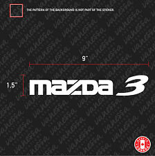 2x MAZDA 3 sticker vinyl decal white