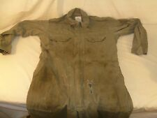Used Condition Light Green USGI Army Issued Denim Utility Coveralls Thick 80253
