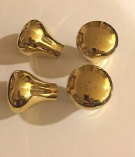 HAME BALL BRASS Pear shape  walking stick HANDLE Lot Of 48