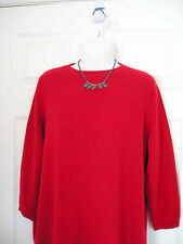 1$160 NWT TALBOTS 100% CASHMERE AUDREY RED SWEATER TOP 2XP 18WP 20WP (BD)