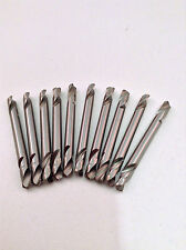 "10pc High Speed M2 Double Ended Body Drill Bits 3/16"" x 2-5/16"""