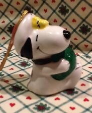 1981 Ceramic Snoopy Merry Christmas United Feature Syndicate Made in Japan