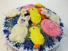 HOME MADE ICED EASTER 2 1/2- 3 INCH  SUGAR COOKIES by Needfull Things