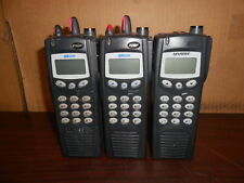 One lot of 3 M/A COM HARRIS P7100ip portable radios Ht7170t81x FOR PARTS AS/IS