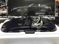 MERCEDES BENZ SLS AMG Roadster 2011  blue blau met. Supersportwagen lim 1:18