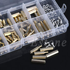 120 M3 Male Female Brass Standoff Spacer PCB Board Hex Screws Nut Assortment New