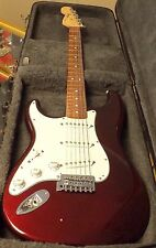 2008 FENDER STANDARD STRATOCASTER LEFT HAND STRAT ELECTRIC GUITAR-MADE IN MEXICO