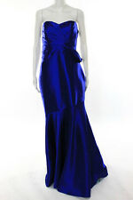Badgley Mischka Royal Blue Clear Night Gown Size 6 Long New $695 10233994