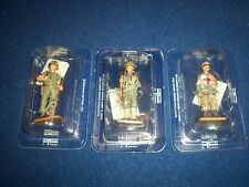 DEL-PRADO MEN AT WAR 3 X BUBBLE BOXED AMERICAN PERSONAL 1917-66 MINT IN BOX