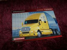 Feuillet fiche technique / Sales sheet brochure KENWORTH T2000 2005 //