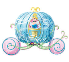 Disney PRINCESS Cinderella Blue Carriage Buggy Birthday Mylar Balloon Decoration
