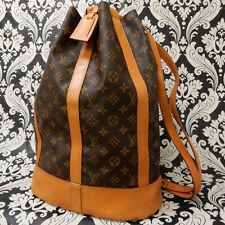 Rise-on LOUIS VUITTON MONOGRAM RANDONNEE GM Shoulder Bag Backpack #25 F