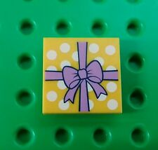 *NEW* Lego 2x2 Gift Package w Bow Tile Friends  Printed Plate x 1 piece