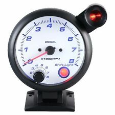 95mm 3 3/4 inches Tachometer 0-8000 RPM with outside shift light for Diesel
