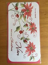Nan Poinsettia Christmas New Year Greeting Card *NEW* (C195)