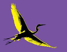 Japanese Heron SHIRASAGI - Blank Greeting/Note Card -Asian bird/crane - 3 Colors