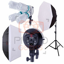 Continuous Studio Lighting Softbox Kit - 5000w JINBEI Sun400 Pro CFL Photo Video