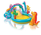 Intex Kids Inflatable Dinoland Play Center Slide Pool And Games For 2+ | 57135EP