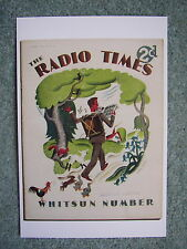 NEW Postcard Vtg Radio Times cover 18 May 1934 82nd Birthday Card Whitsun Hiking