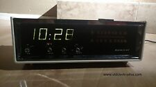 Vintage Serviced Admiral Digital Clock Radio with GE Telechron Digitel Movement