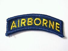 ARMY AIRBORNE TAB SSI GOLD ON TEAL BLUE:K5