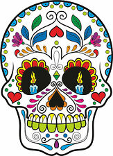 Sugar Skull Vinyl Car Exterior Stickers Decals Mexican Day of the Dead Candles 2