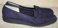 Salvatore Ferragamo Purple Suede Penny Leather Loafer flat Narrow 8AAAA Quad 4A