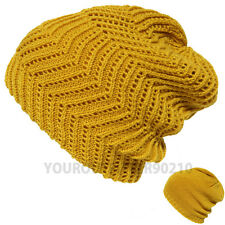 Knit Baggy Beanie Caps  Reverse Hat Men Women Ski Hunting Hiking High Quality
