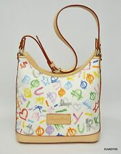 New $255 Dooney & Bourke Signature Small Hobo Handbag Shoulder Bag Tote ~Multi