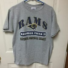 *Retired Number* LA Rams Grey T-Shirt, Marshall Faulk 28 (HOF)