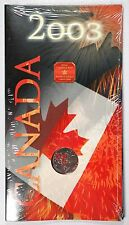 2003 Canada Day Uncirculated 25c Coin - Polar Bear and Colored Maple Leaves
